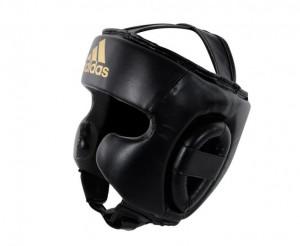 Шлем боксерский Speed Super Pro Training черно-золотой Adidas