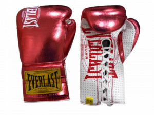Боевые перчатки Everlast 1910 Classic Metallic Red, 10 oz Everlast